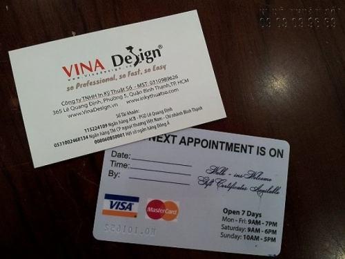 In thẻ nhựa làm thẻ bảo hành chất lượng sản phẩm với lõi PVC cao cấp, in ấn đẹp tại InKyThuatSo