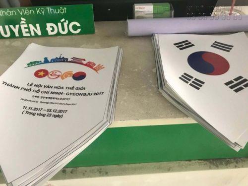 In ấn sự kiện lễ hội văn hoá thế giới thành phố Hồ Chí Minh - Gyeongju 2017 - 2