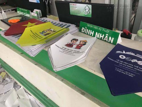 In cờ đuôi nheo cho sự kiện In ấn sự kiện lễ hội văn hoá thế giới thành phố Hồ Chí Minh - Gyeongju 2017