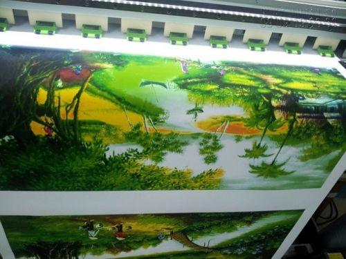 In tranh canvas mực nước tại In Kỹ Thuật Số