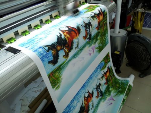 In tranh dán tường 3D mã đáo thành công - vải không dệt