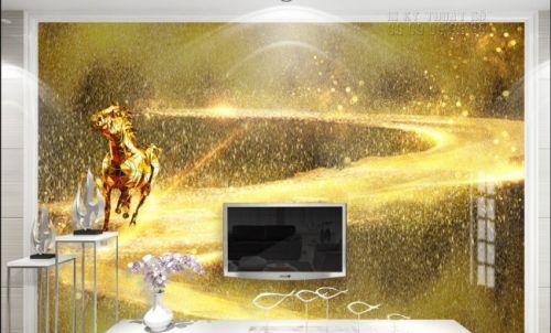 In giấy dán tường hình con ngựa phong cách hiện đại - Ma69