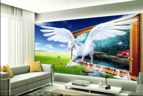 In tranh ngựa 3D - tranh 1 ngựa - Ma78