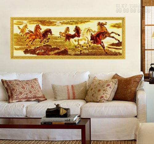 In tranh ngựa 3D treo tường - NT01