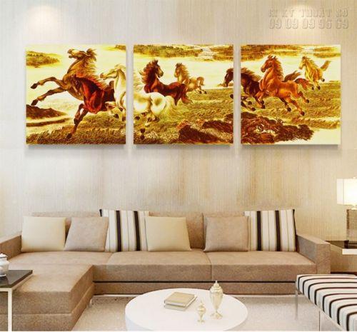 In tranh ngựa 3D - dòng tranh nghệ thuật - NT01