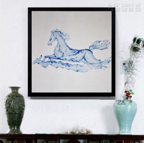 In tranh ngựa 3D - dòng tranh nghệ thuật - NT02