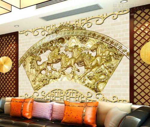 In tranh ngựa 3D - tranh 6 ngựa - Ma33