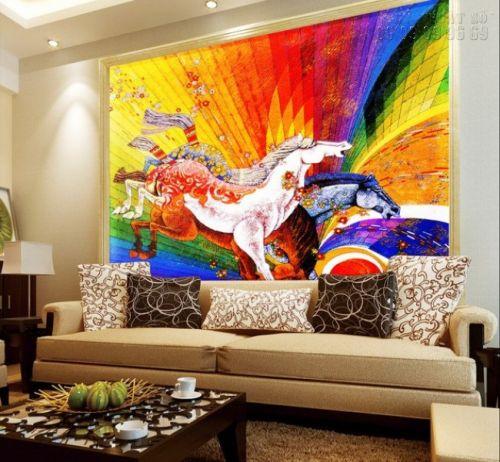 In tranh ngựa 3D - tranh 3 ngựa - Ma67