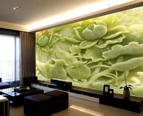 In tranh giả ngọc 3D Uyên Ương Hồ Sen - NG66