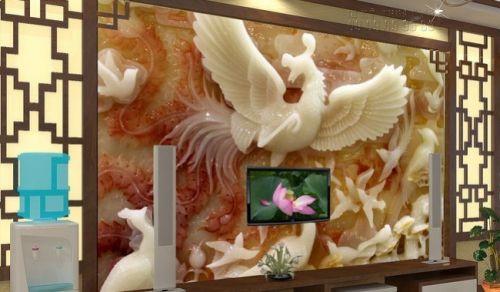 In tranh giả ngọc 3D Phượng Hoàng Tung Cánh - NG62