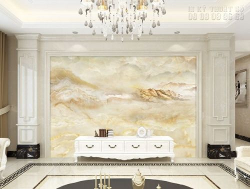 In tranh giả ngọc 3D Núi Non Trùng Điệp - NG58