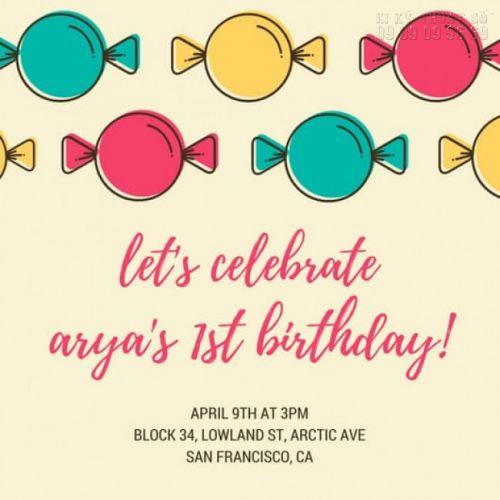 mẫu thiệp mời sinh nhật cho bé