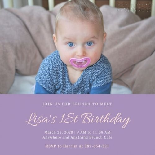 mẫu thiệp mời sinh nhật cho bé 1