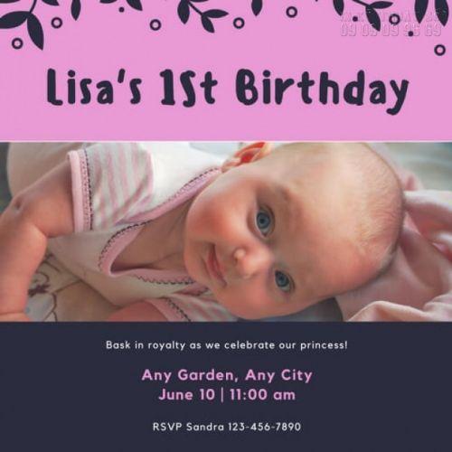 mẫu thiệp mời sinh nhật cho bé 2