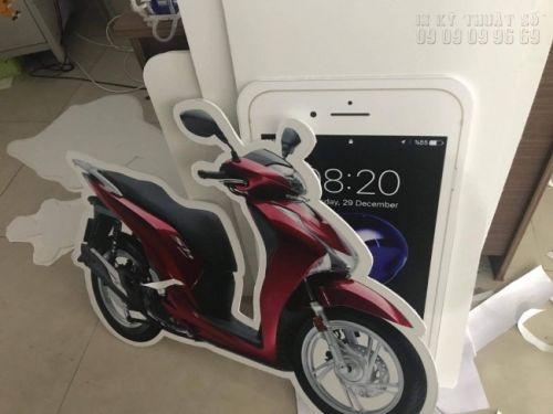In PP cán support làm mô hình xe máy Honda SH