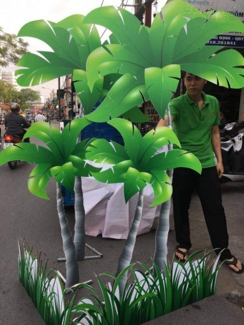 Từ mô hình cây dừa trang tri sân khấu, hoạt cảnhhành phẩm từ in PP bồi formex