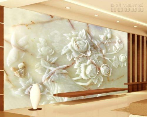 Đặt in tranh giả ngọc 3D - Hoa mẫu đơn NG40