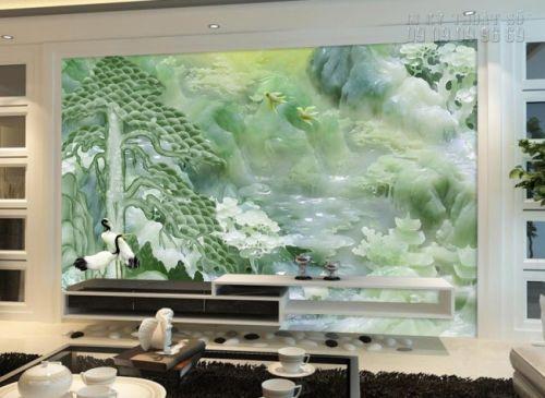 In tranh giả ngọc 3D giá rẻ - tranh dán tường phong thủy - NG59