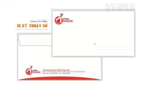 Gửi file thiết kế in bao thư để được hỗ trợ kiểm tra file in