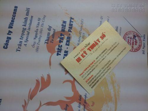 In nhanh thư mời sự kiện tiệc tất niên cho doanh nghiệp - in thư mời giấy art tại In Kỹ Thuật Số
