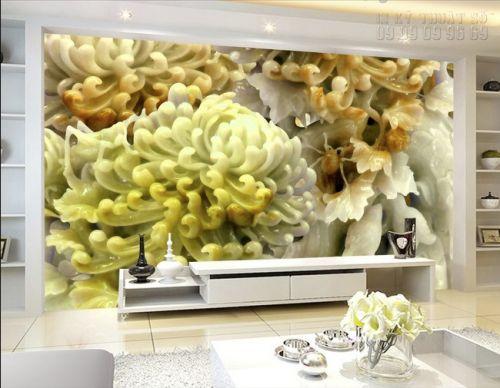 Tranh đá giả ngọc 3D - Hoa cúc 3D - NG32