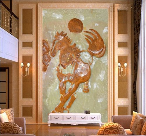 Tranh ngọc - tranh ngựa 3D - Ma62