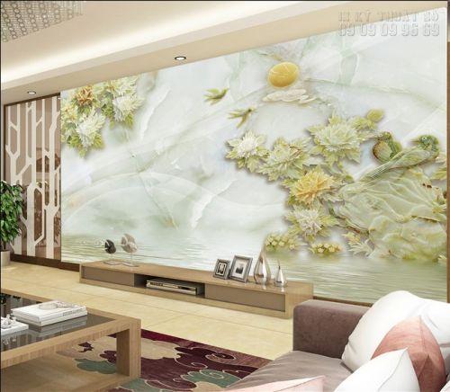 Mẫu tranh ngọc 3D - tranh hoa mẫu đơn 3D - NG38