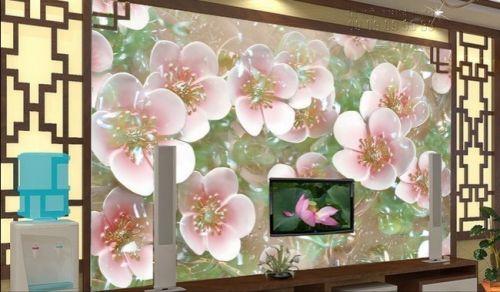 Báo giá tranh giả ngọc - tranh hoa đào 3D - NG34
