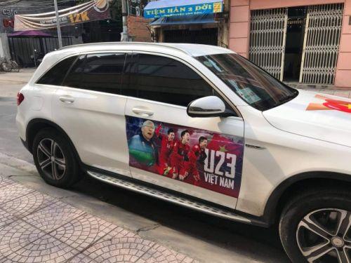 In decal dán xe cổ vũ đội tuyển bóng đá U23 Việt Nam