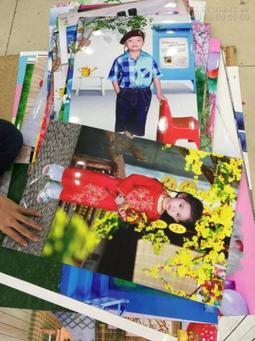 In ảnh cho bé - in ảnh từ buổi chụp ảnh xuân cho bé