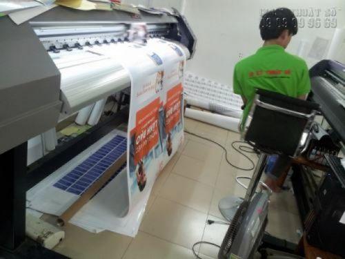 In poster quảng cáo trên máy in kỹ thuật số mực nước tại In Kỹ Thuật Số