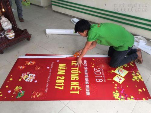 In poster lễ tổng kết năm cho công ty tại In Kỹ Thuật Số
