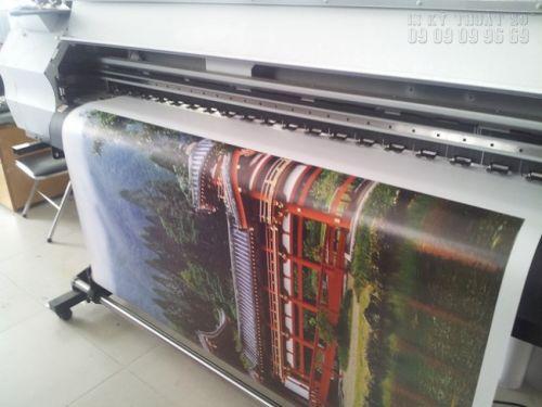 In tranh canvas khổ lớn mực dầu trên máy in Nhật Bản