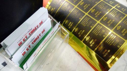 In decal mực dầu dán nhãn mỹ phẩm - serum làm đẹp