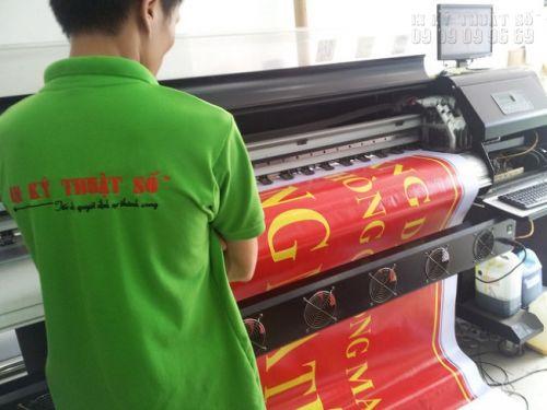 In banner quảng cáo từ in hiflex tại Công ty In Kỹ Thuật Số