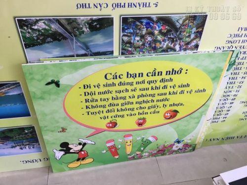 In banner vuông - in banner PP bồi formex cho nhà trẻ cho trường mầm non, khu vui chơi thiếu nhi - in banner PP bồi formex