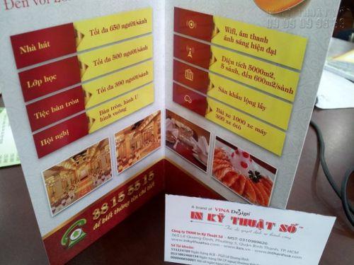 In brochure gấp đôi - in brochure gấp 2 - giá rẻ tại In Kỹ Thuật Số