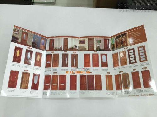 In brochure gấp bốn - in brochure gấp 4 - in brochure cửa gỗ nội thất