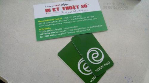 In thẻ nhựa theo yêu cầu cho trung tâm Yoga tại In Kỹ Thuật Số