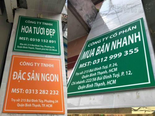 Làm bảng tên công ty, bảng số nhà bằng in PP mực dầu cán Formex, 1267, Huyen Nguyen, InKyThuatso.com, 20/03/2018 18:09:12