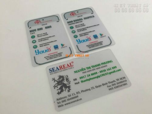 In name card bằng nhựa tại Bình Thạnh
