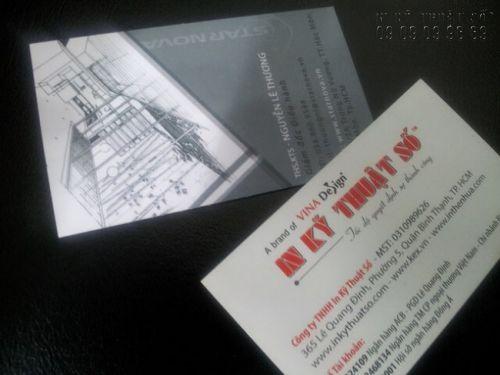 In name card giấy mỹ thuật quận Bình Thạnh