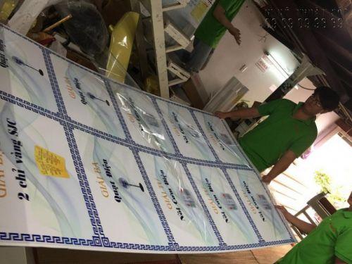 In bảng trao giải từ PP bồi formex tại công ty In Kỹ Thuật Số