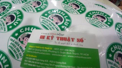 In tem nhãn dán bao bì giá rẻ - in tem dán ly trà sữa tại In Kỹ Thuật Số