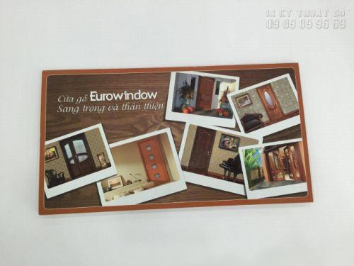 In brochure giá rẻ tại TPHCM giới thiệu sản phẩm cửa sổ Eurowindow - sang trọng và thân thiện - thực hiện bởi In Kỹ Thuật Số