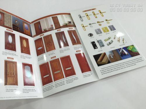 Giấy sử dụng cho in brochure là giấy couche matt có độ bóng nhất định