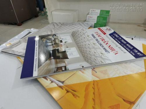 Thành phẩm in catalogue số lượng ít TPHCM tại In Kỹ Thuật Số