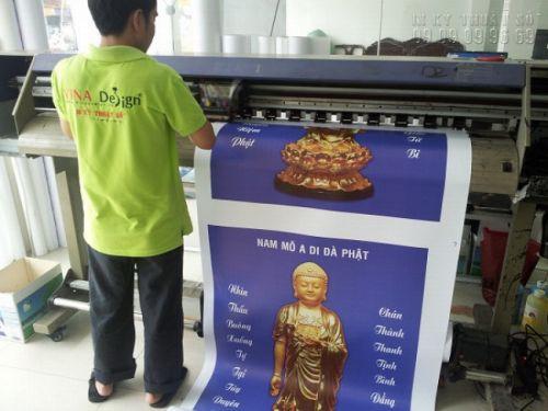 In tranh tượng Phật đẹp Tp HCM với chất liệu canvas mực dầu