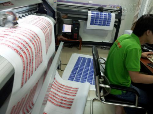 Công đoạn in tem nhãn hoa quả, tem nhãn trái cây trên máy in tem khổ lớn tại In Kỹ Thuật Số