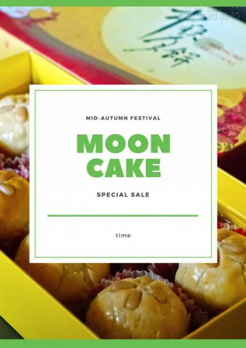 Mẫu poster Trung Thu dán cửa kính: Moon Cake (1)